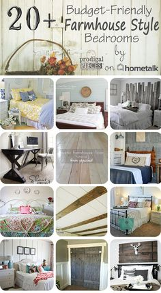 20+ Budget-Friendly Farmhouse Style Bedrooms,Love these styles of redo bedrooms!
