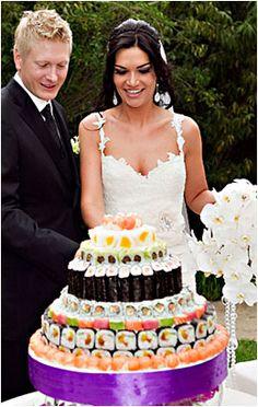 Sushi wedding cake - brilliant idea