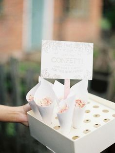 A sweet idea for a confetti toss and more romantic touches from this real-life wedding