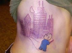 """harold and the purple crayon draws chicago by dave dillon at the tattoo factory, chicago, il. inspired by """"harold and the purple crayon"""" by crockett johnson. Writer Tattoo, Book Tattoo, Tattoo You, Love Tattoos, New Tattoos, Tatoos, Sweet Tattoos, Amazing Tattoos, Bookish Tattoos"""