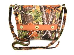 Camouflage Small Fabric Purse / Zippered Cross Body Handbag by DarlingsDesigns on Etsy