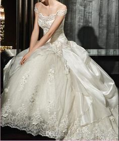 Vintage Victorian Ball Gown Wedding Dress by bridaldressfactory XD <3
