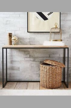 Imagine this beautiful simple Stylish narrow console table in your apartment. Entryway Table, Table Modern, Minimalistic, Sideboard, Loft.#consoletables #consoletableideas #console #ad