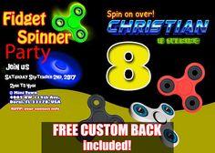 Fidget Spinner Birthday Invitation Fidget Spinner Invitation