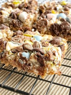 Cadbury Egg 7 Layer Magic Bars - Together as Family recipes ideas recipes ideas families recipes ideas healthy recipes ideas sides recipes ideas simple No Egg Desserts, Desserts Ostern, Delicious Desserts, Dessert Recipes, Yummy Food, Easter Desserts, Brownie Recipes, Dessert Bars, Mini Egg Recipes
