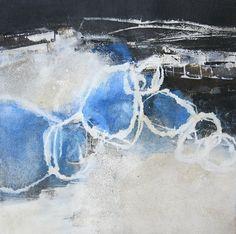 23 - Triptychon - Kühler Morgen III - Mischtechnik auf Acryl-Malkarton - 40 cm x 40 cm