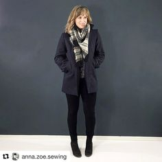 Sharing a gorgeous Bamboo coat from #anna.zoe.sewing . It's cold winter version with flannel interlining. Waiting more photo coming on her blog. Thank you @anna.zoe.sewing for sharing the photo! #sewing #wafflepatterns #naaien