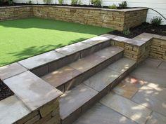 Split level low maintenance garden scheme