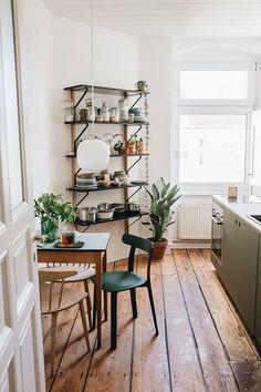 Centerpiece: Kitchen with Reform - Heart and Blood - Interior Kitchen Interior, New Kitchen, Kitchen Decor, Square Kitchen, Earthy Kitchen, Modern Interior Design, Home Design, Design Room, Apartment Decoration