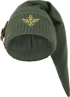 Legend of Zelda Knitted Link Beanie with Buckle ---- I NEED THIS!!!!!