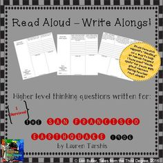 This is the latest in a new series that I've created, called READ ALOUD-WRITE ALONGS!I have written interactive, higher level thinking questions aligned with the common core to go with each chapter of popular classroom read alouds. These tri-folds will help to keep your students engaged as you read to them, and are a great, quick way to encourage important writing skills every day.