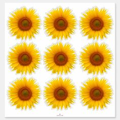 Shop 9 Yellow Orange Sunflower Flower Kiss-Cut Stickers created by wasootch. Sunflower Stencil, Sunflower Flower, Design Your Own Stickers, Custom Stickers, Orange Sunflowers, Light Orange, Social Media Graphics, White Ink, Artsy Fartsy