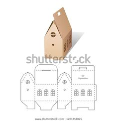 Find Retail Box Diecut Layout stock images in HD and millions of other royalty-free stock photos, illustrations and vectors in the Shutterstock collection. Thousands of new, high-quality pictures added every day. Diy And Crafts, Crafts For Kids, Paper Crafts, Layout, Diy Gift Box, Retail Box, Paper Cutting, Paper Art, Christmas Crafts