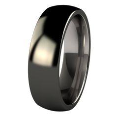 Lunar Eclipse Titanium Ring with Black Diamond finish