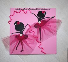 Купить Панно в детскую комнату - фуксия, розовый, алый, балерина, панно, подарок, подарок девушке