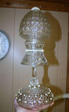 Indoor /Outdoor Unique vintage glass totem $20