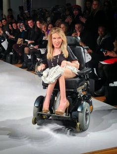 Around and upside down: Great strides for wheelchair fashion: New York fashion Week's First Wheelchair Model - disability matters