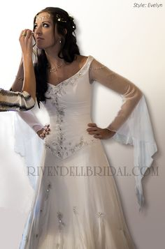 Medieval wedding dresses, Fairy  Celtic wedding dresses by Rivendell Bridal