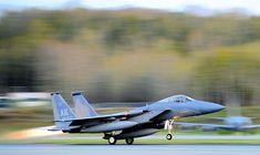 F-15 Eagle of USAF While Takeoff at Elmendorf Air Base