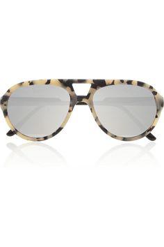 { Aviator-Style Mirrored Sunglasses }