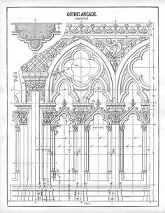 Architecture Printable Gothic Arches via The Graphics Fairy