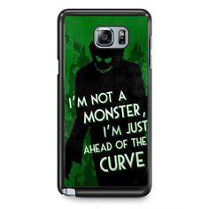 Joker Quotes TATUM-5941 Samsung Phonecase Cover Samsung Galaxy Note 2 Note 3 Note 4 Note 5 Note Edge