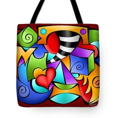 """""""This Is It""""  Great colorful tote bag created by Debi Payne Designs."""