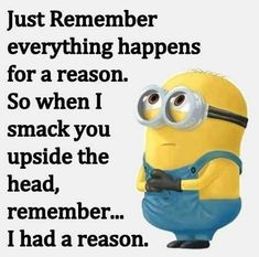 We all love how awesome Minions are here are some of the best jokes with the Minions. Don't forget to share with your friends so they can get their laugh on too! Minion Jokes, Minions Quotes, Funny Minion, Funny Qoutes, Funny Memes, Humour Quotes, Bitch Quotes, Think Happy Thoughts, Sarcasm Humor
