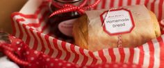 I saw this adorable homemade bread and Jam DIY by Jordan Ferney on project wedding. This would be such a sweet little gift, party favor, o...