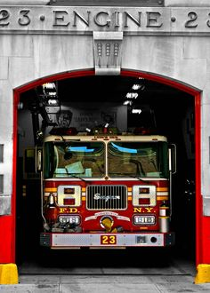 New York City Photograph - FDNY Fire Truck - Original Signed, Matted