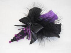 Black and purple boutonniere by DarkRoseTreasures, $9.00 / Tim Burton