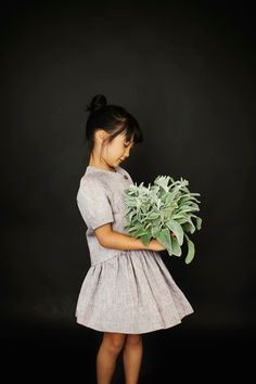 Girl with bouquet.