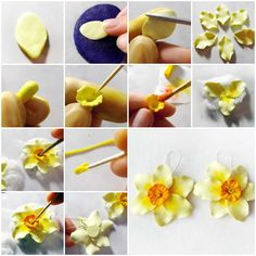 Pin by aida puyol on flora pinterest clay polymer clay and polymers how to make pale yellow daffodils step by step diy tutorial instructions polymer clay flowers solutioingenieria Images