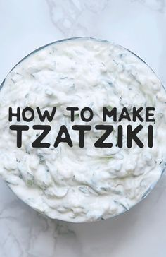 This healthy and refreshing tzatziki recipe is a simple and classic Greek yogurt sauce. A great easy dipping sauce for on gyros, as a salad dressing, or for dipping crackers or fresh veggies! #greekfood #vegetarian #vegetarianrecipes #easyrecipes #sauce #condiments #tzatziki