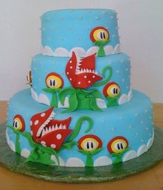 Super Mario wedding cake by Mermaid's Bakery