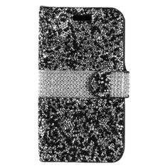 Insten Leather Diamond Bling with Wallet Flap Pouch For LG Tribute HD  X  Style Bling. Bling Phone CasesSamsung Galaxy ... d4921a69d850