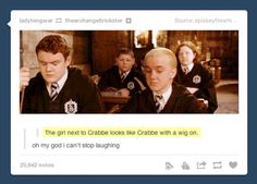 Draco looks like he's agreeing with the comment below it