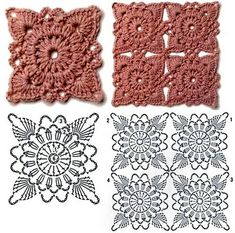 Watch The Video Splendid Crochet a Puff Flower Ideas. Phenomenal Crochet a Puff Flower Ideas. Crochet Motifs, Granny Square Crochet Pattern, Crochet Blocks, Crochet Flower Patterns, Crochet Diagram, Crochet Stitches Patterns, Freeform Crochet, Crochet Squares, Crochet Designs