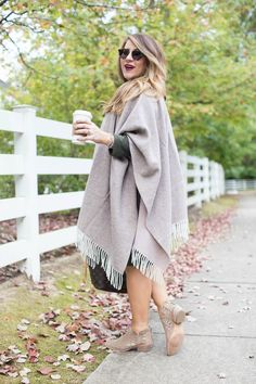How to Wear a Poncho this Fall