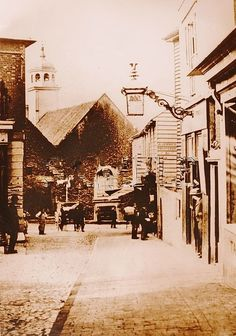Looking down Chapel Place c1880.