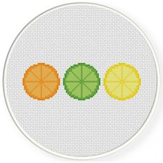 Handmade Unframed Citrus Fruit Slices Cross by CustomCraftJewelry Cross Stitching, Cross Stitch Embroidery, Embroidery Patterns, Cross Stitch Designs, Cross Stitch Patterns, Fruit Slices, Batman Gifts, Cross Stitch Kitchen, Cross Stitch Pictures