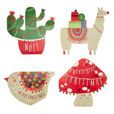 Buy John Lewis Lima Llama Cut Out Charity Christmas Cards, Pack of 28 Online at johnlewis.com