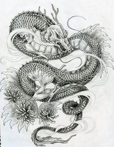 Japanese dragon tattoo design by ZakariasEatWorld.deviantart.com on @deviantART