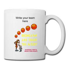 Basketball Fan Ceramic Coffee And Tea Mug from PersonalizedSouvenirs.com.