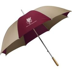 "This large 101cm (60"") arc golf umbrella has a sturdy metal shaft and wood handle."