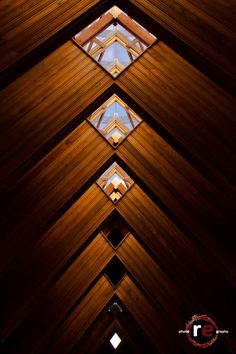 Diamonds by Ryan Estes on (Ceiling of Marjorie Powell Allen Chapel at Powell Gardens). Powell Gardens, Kansas City Missouri, Great Places, Places To Visit, Diamonds, Ceiling, Architecture, Awesome, Modern
