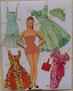 Lennon Sisters Paper Dolls 1958 ALL Four Sisters Original Folder PRE CUT | eBay