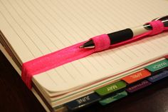 Hey, I found this really awesome Etsy listing at https://www.etsy.com/listing/219687332/bright-pink-pen-holder-planner-band-erin