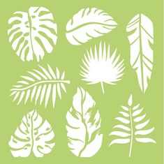 Your projects will have vacation vibes when you create with the Tropical Leaves x Stencil Template from Kaisercraft. There is one reusable stencil included that has various leaf patterns. Leaf Template, Stencil Templates, Stencil Patterns, Stencil Designs, Leaf Patterns, Leaf Stencil, Stencil Diy, Stencil Painting, Flower Stencils