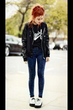 b1fcf478fd8c8c Style Lua LeHappy grunge Leather jacket Style Grunge